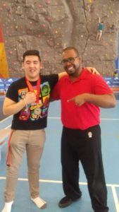 Obediya with Vincent Li, Can-Am games Silver Medal winner, and long time client.